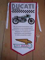Ducati Desmo Banner Pennant.