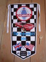 AC Cobra The Legendary One Black Check Banner Pennant