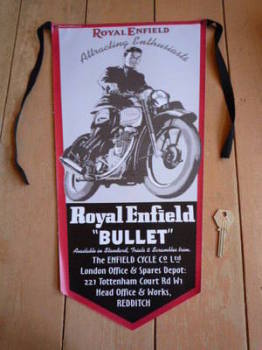 "Royal Enfield ""Bullet"" Banner Pennant"