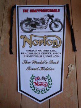Norton The Unapproachable Banner Pennant