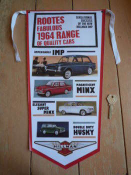 Rootes & Hillman 1964 Range Banner Pennant.