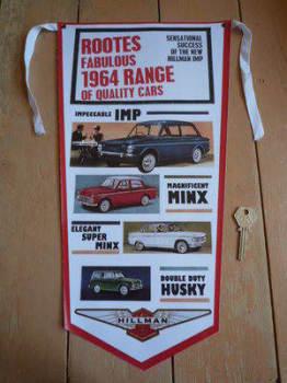Rootes & Hillman 1964 Range Banner Pennant.