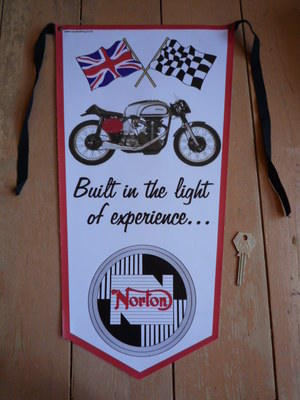 Norton Built In The Light Of Experience Banner Pennant