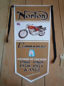 Norton Commando Banner Pennant