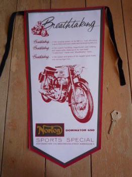 Norton Dominator 650 Banner Pennant