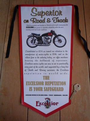 Excelsior Superior On Road & Track Banner Pennant