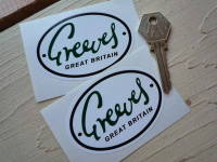 Greeves Great Britain Oval Green, Black & White Stickers. 3