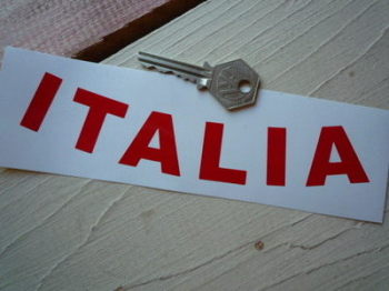 "Italia Italy Curved Cut Vinyl Text Sticker. 7""."