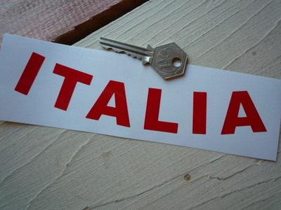 "Italia Italy Curved Cut Vinyl Text Sticker. 7""."