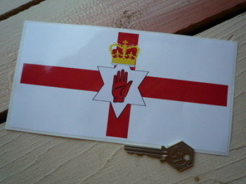 "Northern Ireland Ulster Banner Flag Sticker. 8""."