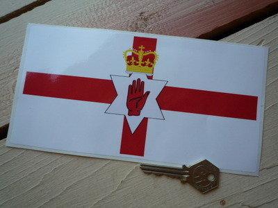 Northern Ireland Ulster Banner Flag Sticker. 8