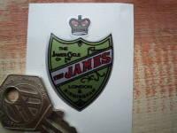 "James Shield Shaped Sticker. 1""."