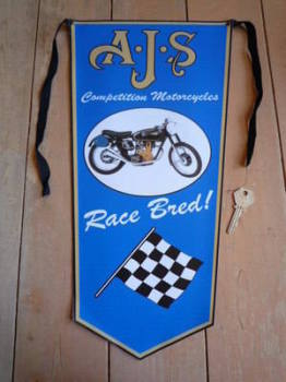 AJS Race Bred! Banner Pennant.