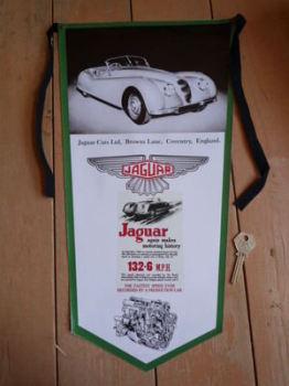 Jaguar XK 120 Banner Pennant.