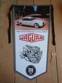 Jaguar Mk2 MkII Banner Pennant.