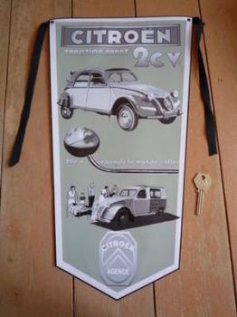 Citroen Agence 2CV Banner Pennant.
