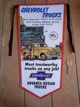 Chevrolet Trustworthy Trucks Banner Pennant.