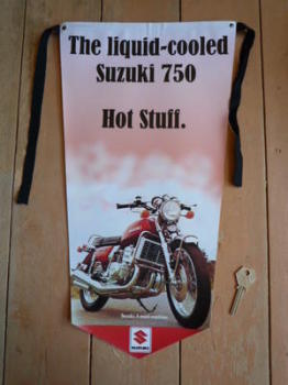 Suzuki Liquid Cooled 750 Pennant Banner.