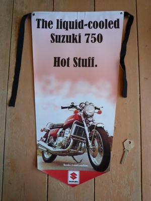 Suzuki Liquid Cooled 750 Pennant Banner.