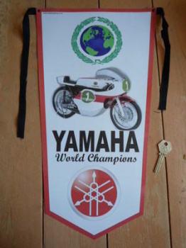 Yamaha World Champions Banner Pennant.