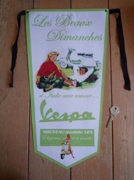 Vespa Les Beaux Dimanches Banner Pennant.