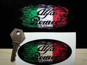"Alfa Romeo Tricola Fade To Black Sticker. 3"", 4"", 6"" or 8""."