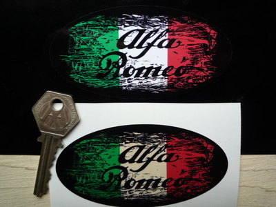 """Alfa Romeo Tricola Fade To Black Sticker. 3"""", 4"""", 6"""" or 8""""."""