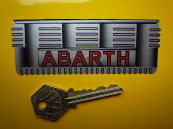 """Abarth Sump Style Fiat 500 Sticker. 4"""" or 8""""."""