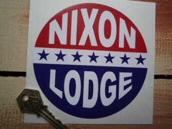 "Nixon Lodge Presidential Campaign Sticker. 5""."