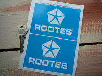 Rootes Chrysler Blue & White Sticker. 4