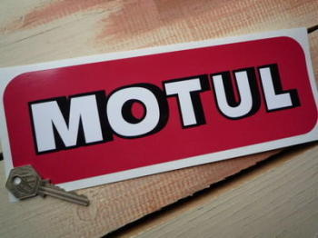 "Motul Shaded Text Oblong Sticker. 10""."