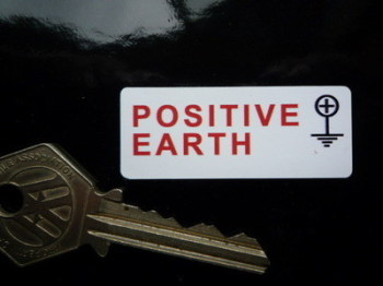 "Positive Earth + Stickers. 2"" Pair."