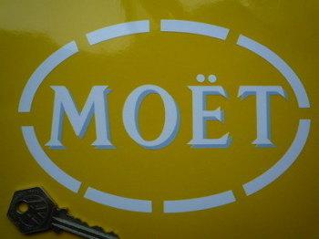 "Moet Shaded Cut Vinyl Sponsorship Sticker. 6.5""."