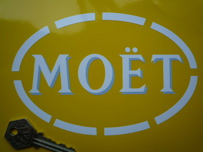 "Moet Shaded Cut Vinyl Sponsorship Sticker. 6.5""."