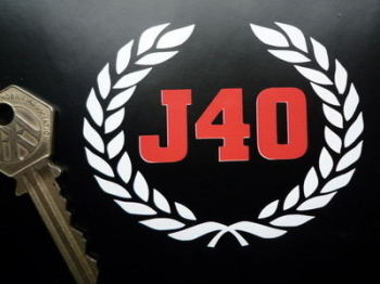 "Austin J40 Pedal Car Cut Vinyl Sticker. 3.25""."