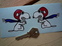 Flying Snoopy Handed Stickers. 3