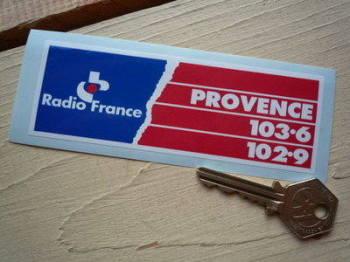 "Provence Radio France Sticker. 5""."