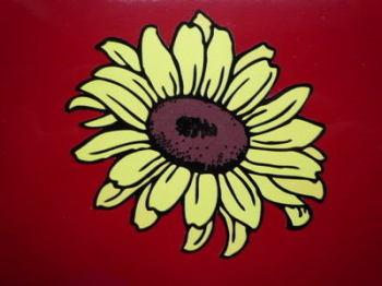 "Sunflower Shaped Flower Sticker. 5"", 6"", 8"" or 10""."