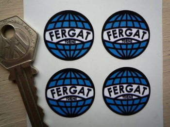 Fergat Torino Wheel Stickers. Set of 4. 25mm.