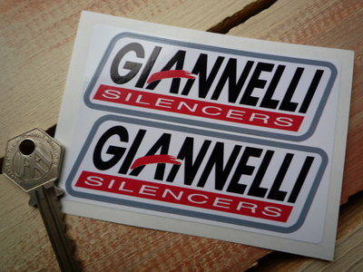 """Giannelli Silencers Stickers. 4"""" or 6"""" Pair."""