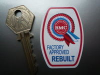 BMC Factory Approved Rebuilt Components Sticker. 2