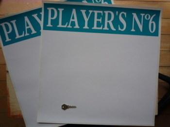 """Player's No.6 Door Panel Stickers. 20"""" Pair."""