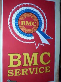 """BMC Rostte Service Sticker. 23.5""""."""