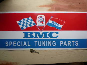 "BMC Special Tuning Parts Service Sticker. 23.5""."