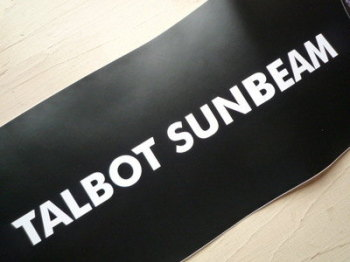 "Talbot Sunbeam Cut Vinyl Sticker. 12""."