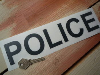 "Police Cut Vinyl Pedal Car Sticker. 10""."