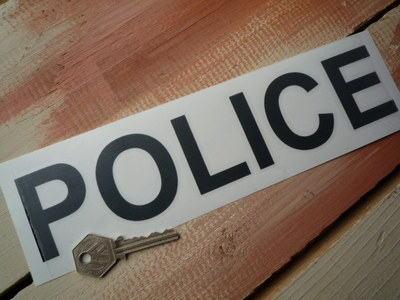 "Police Cut Vinyl Pedal Car Sticker. 10""."