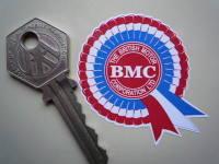 "BMC Red, White & Blue Mini Rosette Stickers. 2"" Pair."