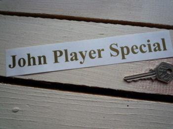 John Player Special Cut Text Sticker. Various Sizes.