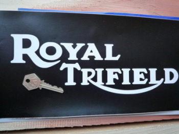 "Royal Trifield Cut Text Stickers. 11"" Pair."